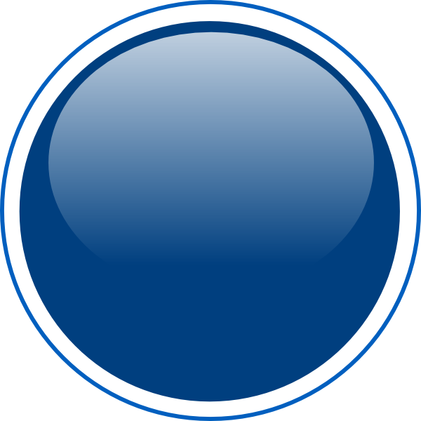 Circle button png. Glossy blue clip art