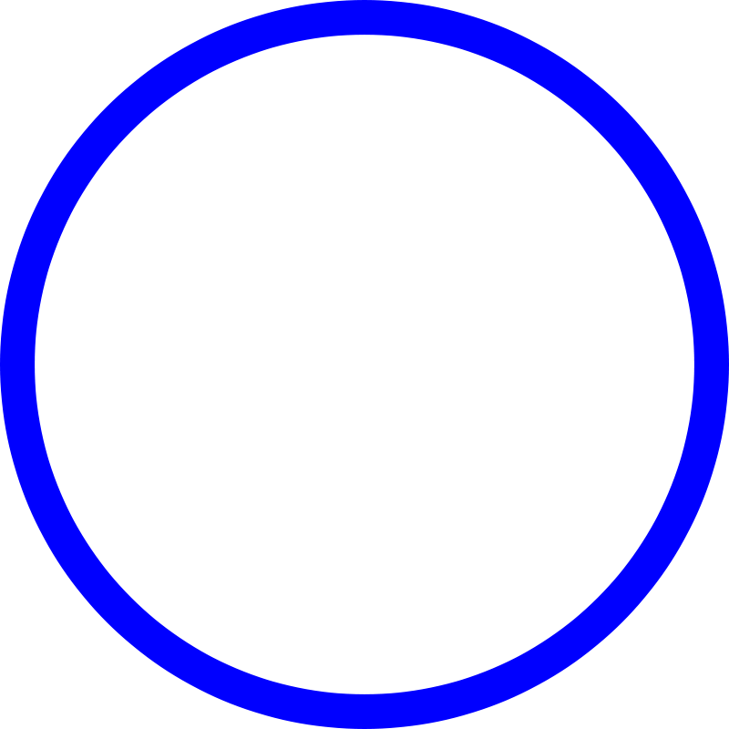 blue circle outline png