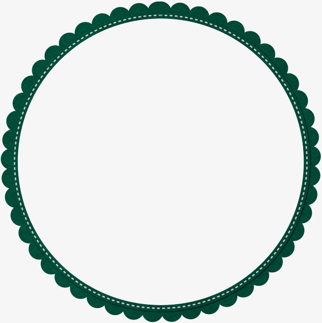 Circle clipart banner. Green simple lace border