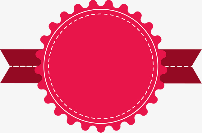 Circle clipart banner. Hand painted red card