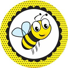 Circle clipart bee. Bumblebee themed birthday party