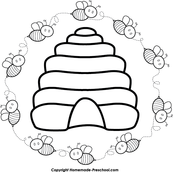 Circle clipart bee. Free click to save