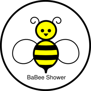 Circle clipart bee. Baby