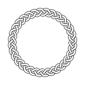 Circle clipart braided. Braid clip art vector