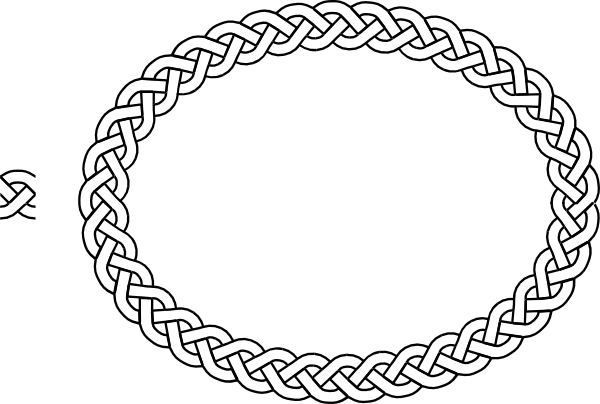 Circle clipart braided. Plait border oval