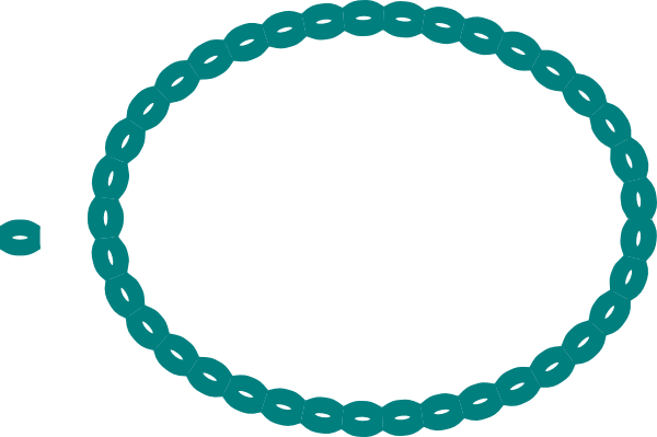 Circle clipart braided. Oval braid teal clip