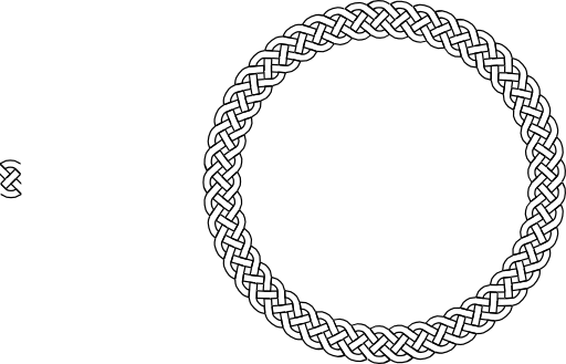 Circle clipart braided. Plait border i