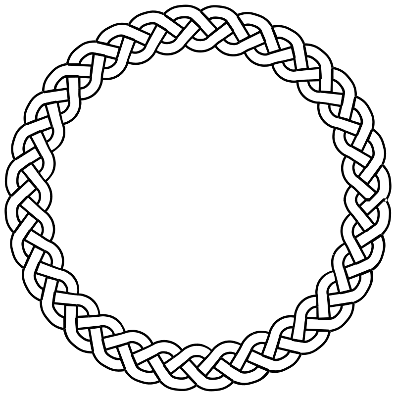 Circle clipart braided. Free clip art plait