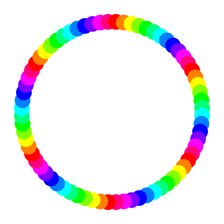 Circle clipart colored. Computer icons rainbow document