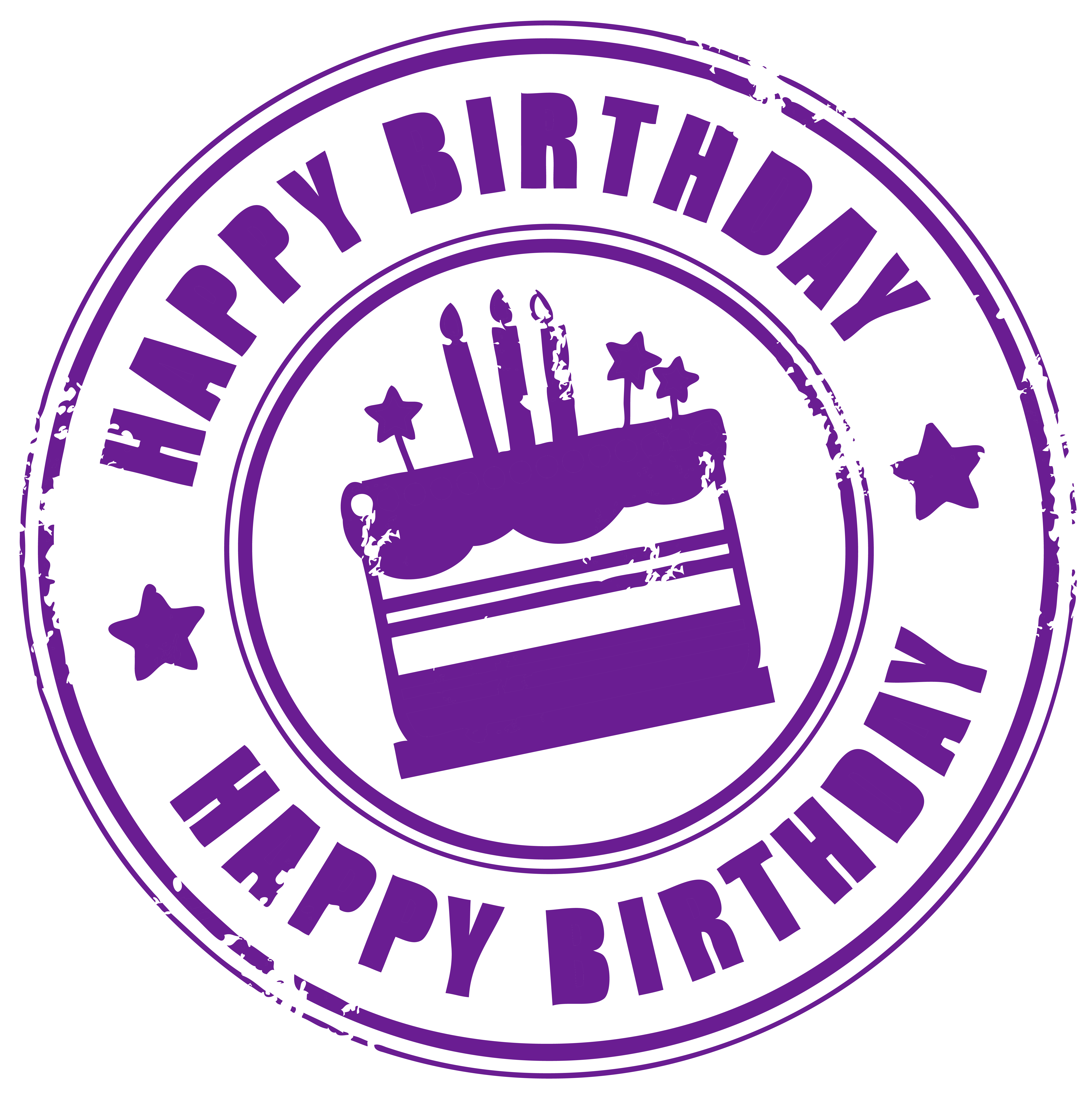 Circle clipart happy birthday. Stamp png picture gallery