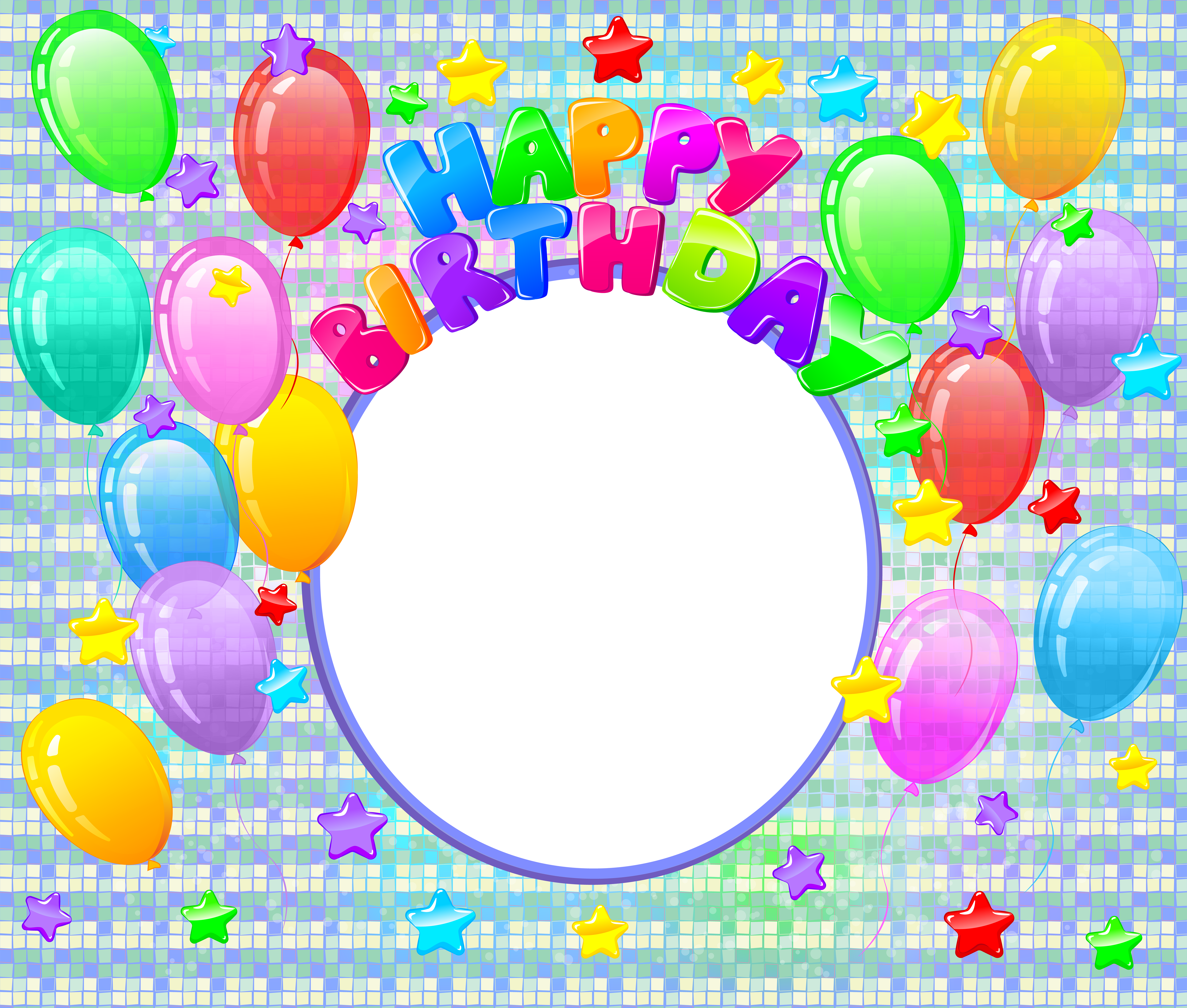 Circle clipart happy birthday. Png transparent photo frame