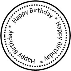 Circle clipart happy birthday. Best digi greetings