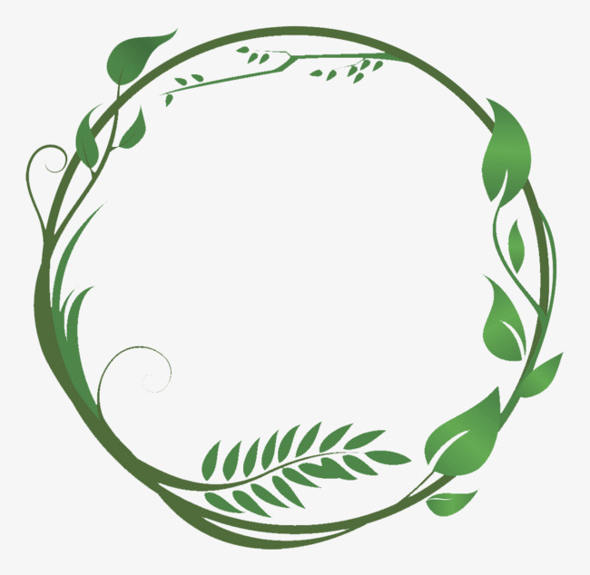 Circle clipart leaf. Vector green leaves and