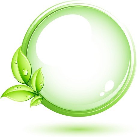 Circle clipart leaf. Free green plant and