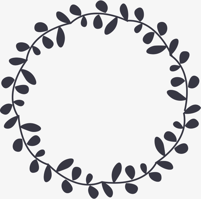 Circle clipart leaf. Little fresh leaves line