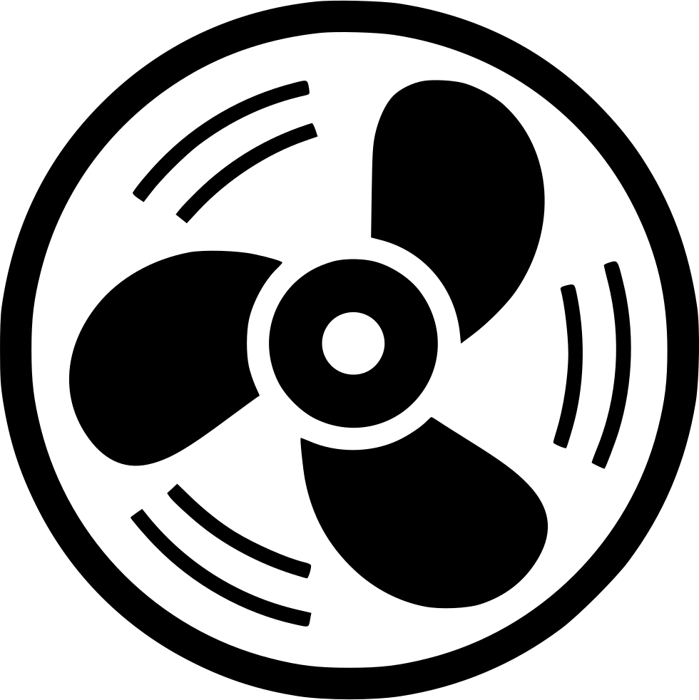 Circle fan png. Wind cooling svg icon