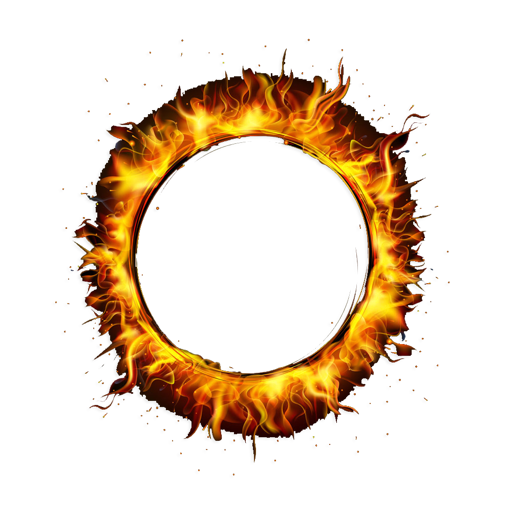 Circle fire png. Flame ring of transprent