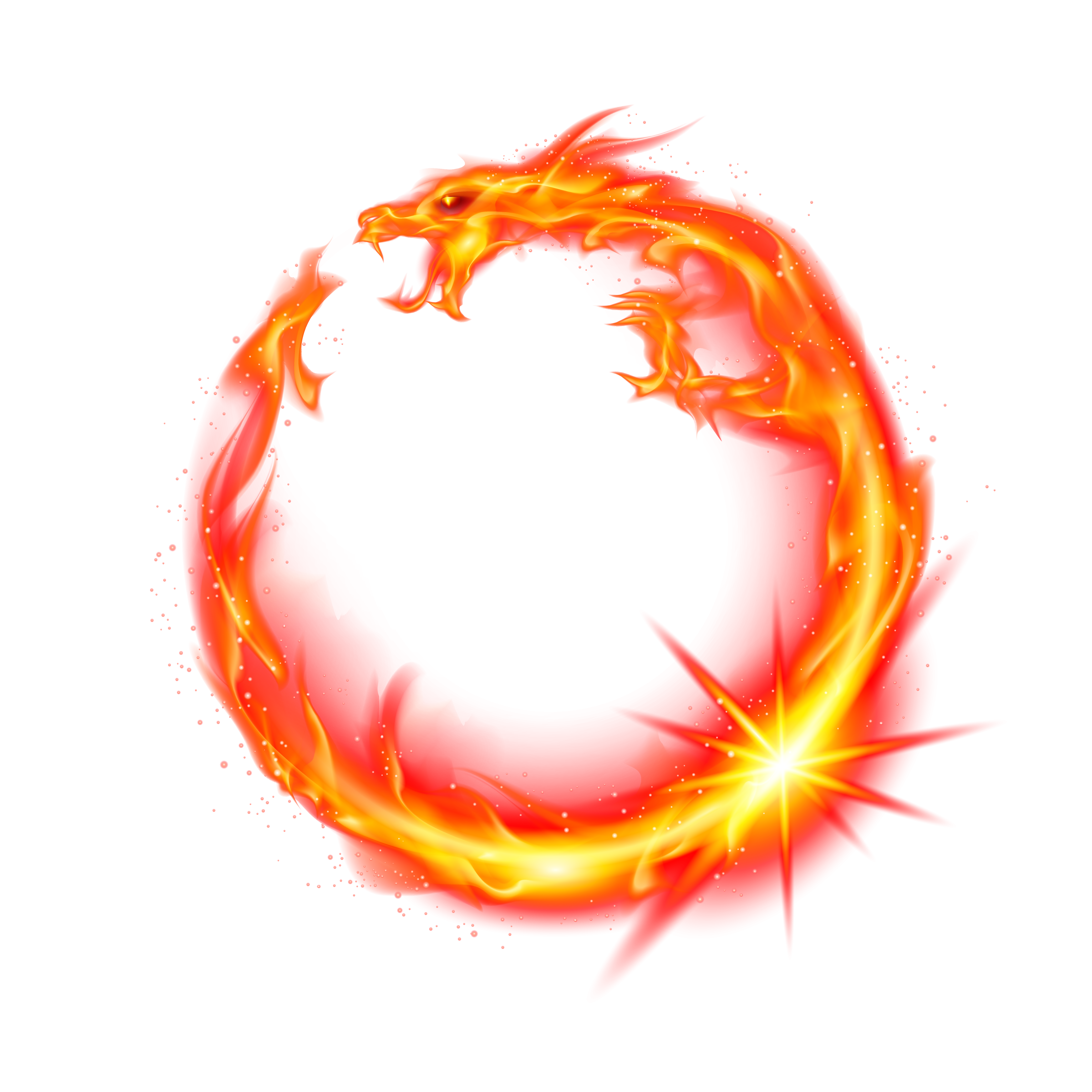 Red fire png. Flame dragon transprent free
