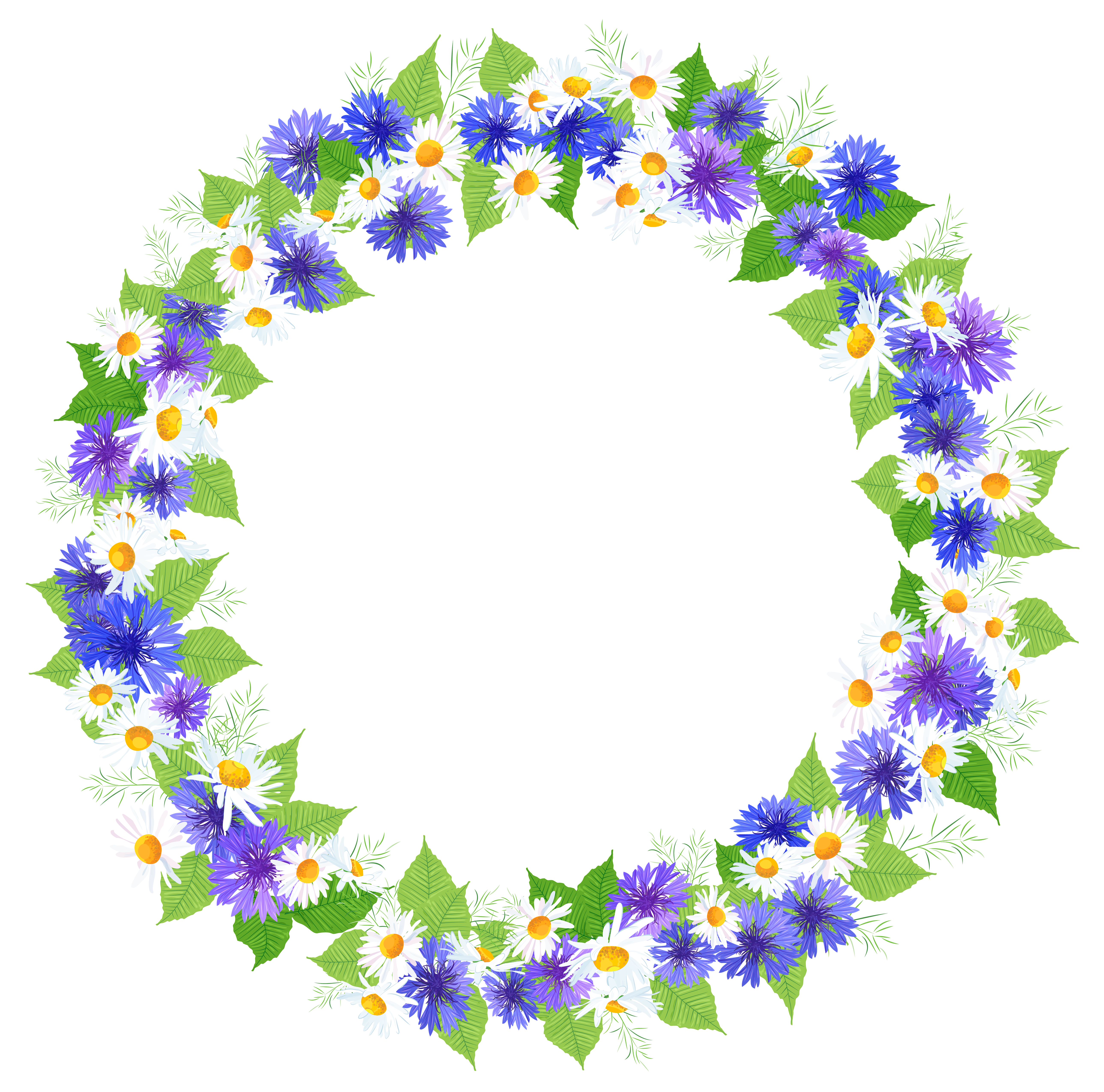 Circle flower png. Floral round decoration clipart