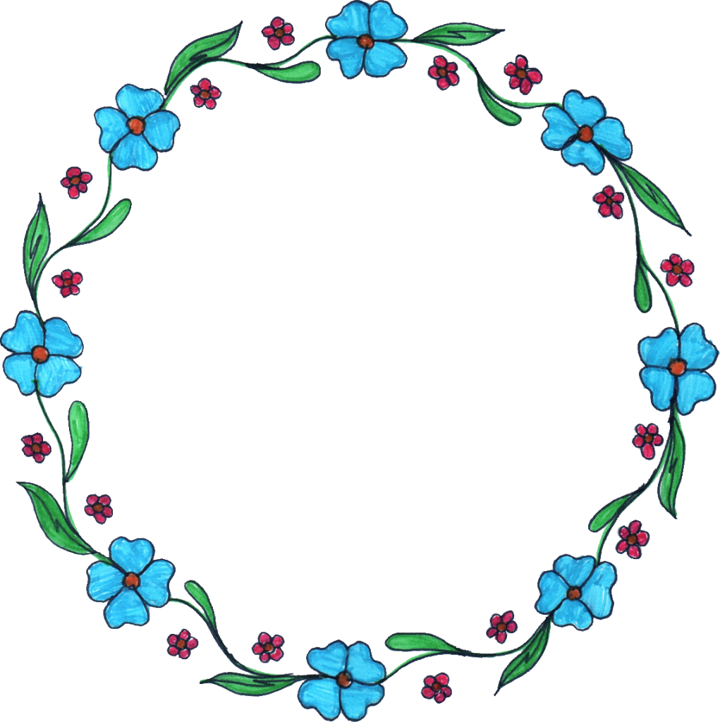Circle frame png. Flower drawing transparent