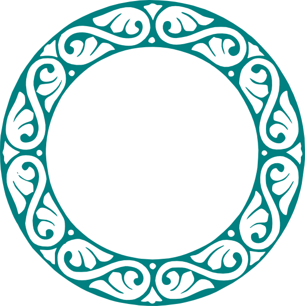 Circle frame vector png. Round decorative clip art