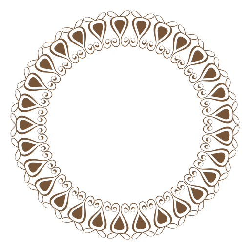 Circle frame vector png. With ornaments transparent svg