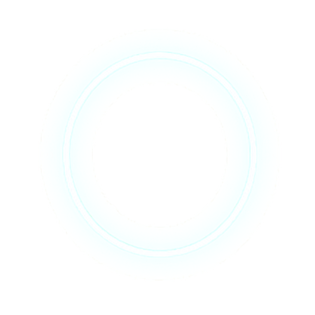 Circle glow png. White lights neon