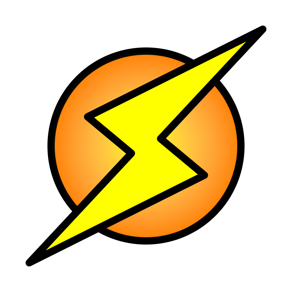 Circle image png. File lightning bolt on