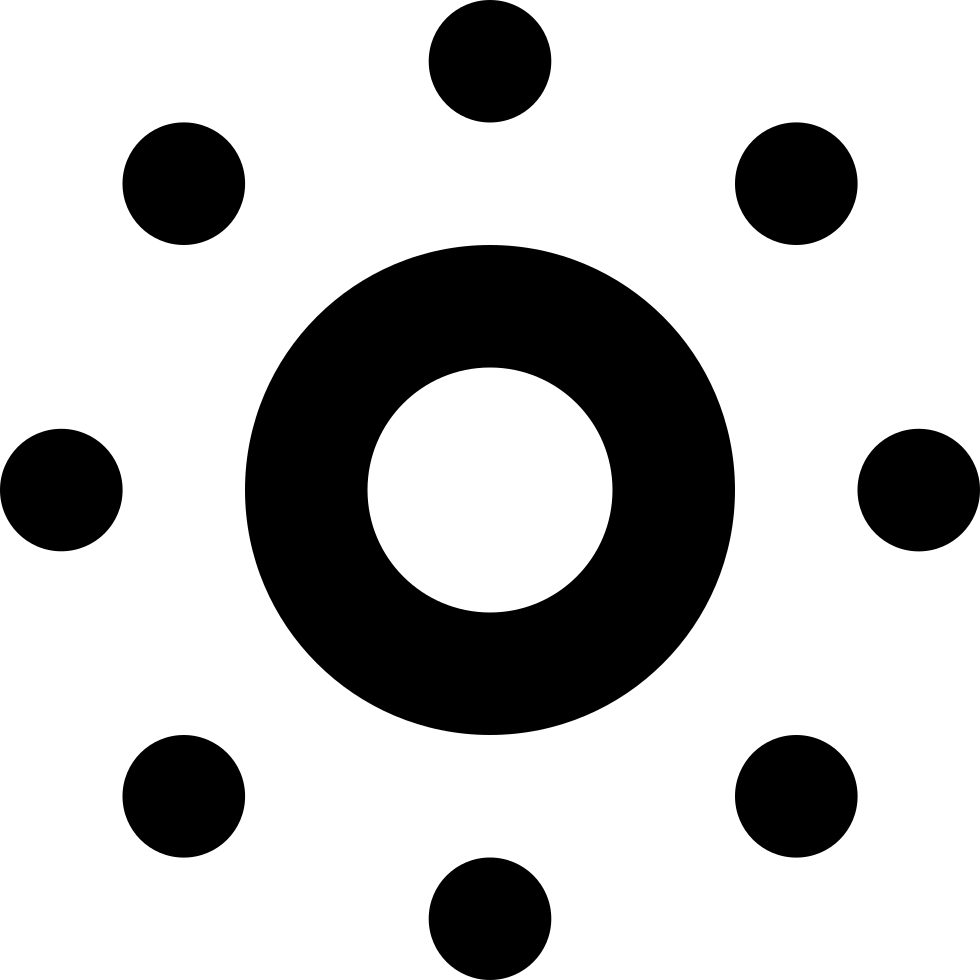 Circle of circles png. With around svg icon