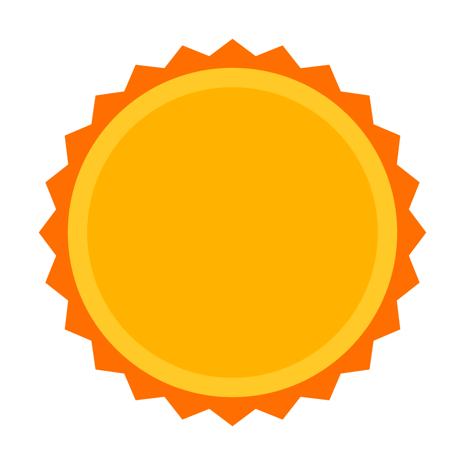 Circle of stars png. Sun star icon free