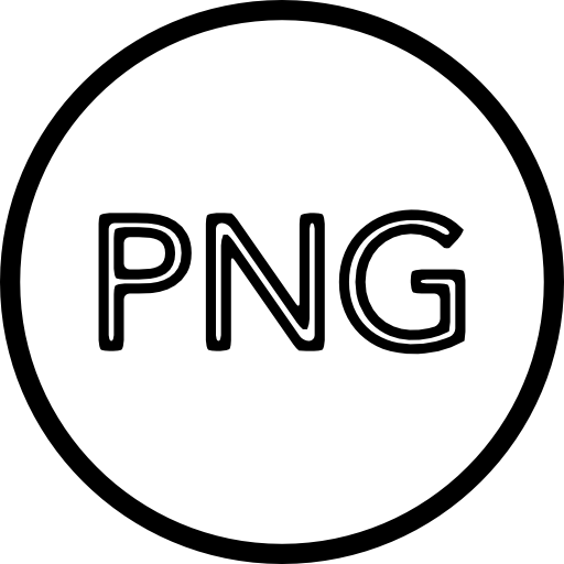 Circle outline png. Image file type sign