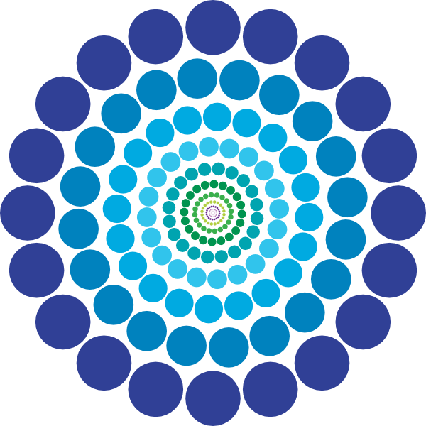 Circle patterns png. Abstract blue pattern clip