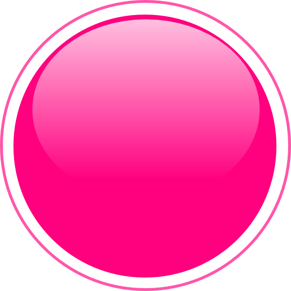 Circle png vector. Glossy pink button clip
