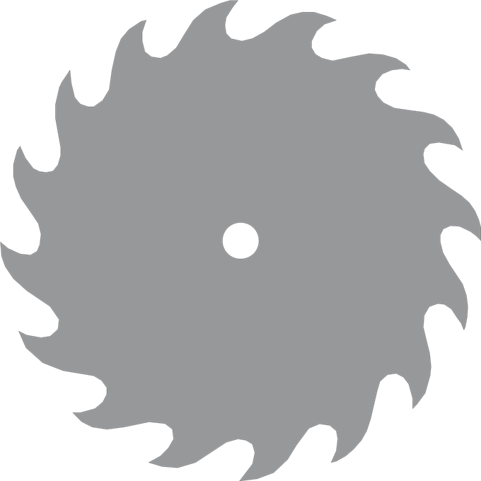 Circle saw png. Carbide circular blade outline