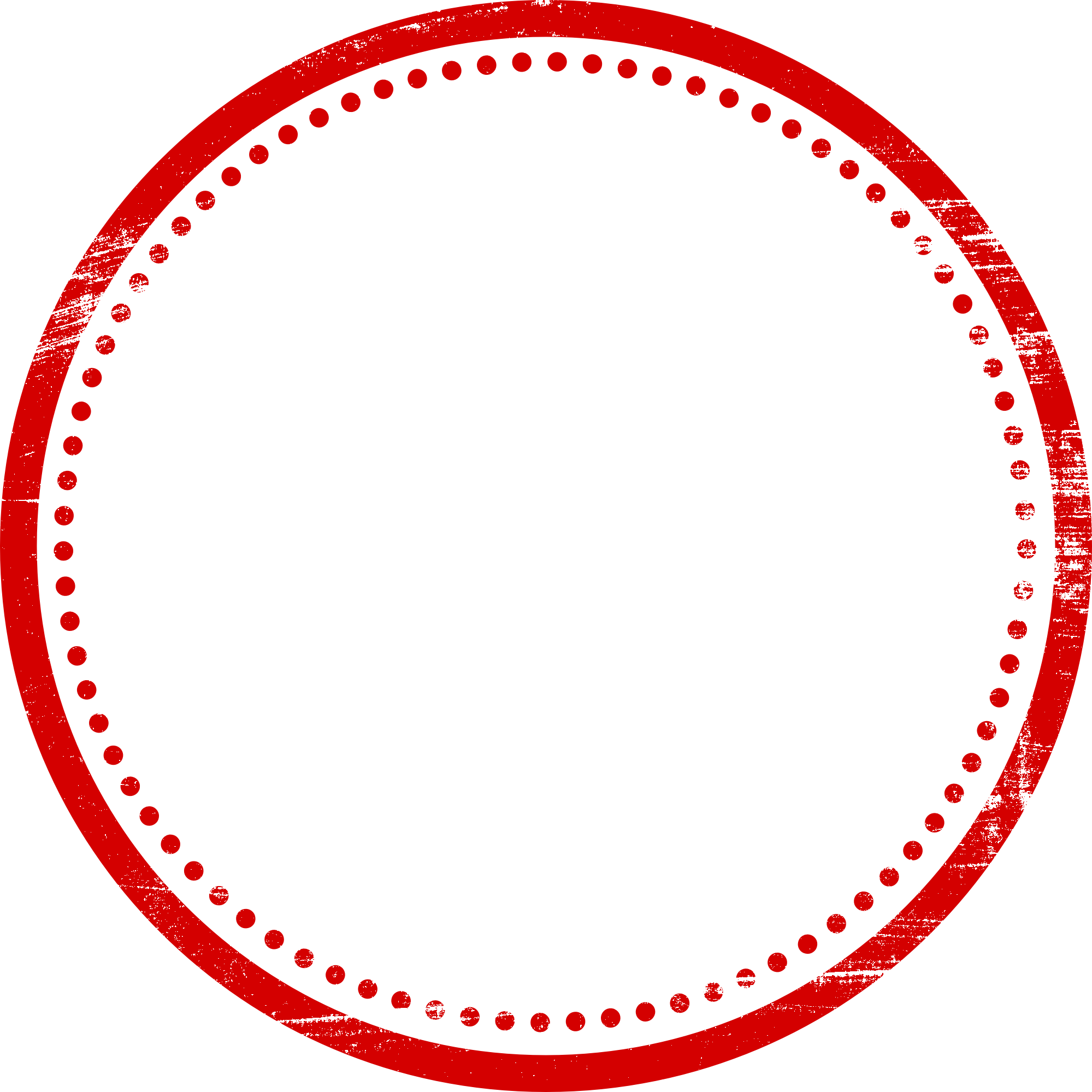 Circle stamp png. Red empty vector