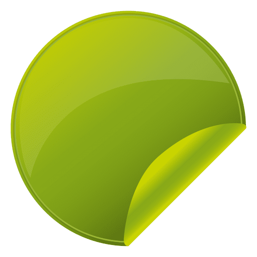 Circle sticker png. Flipped green round transparent