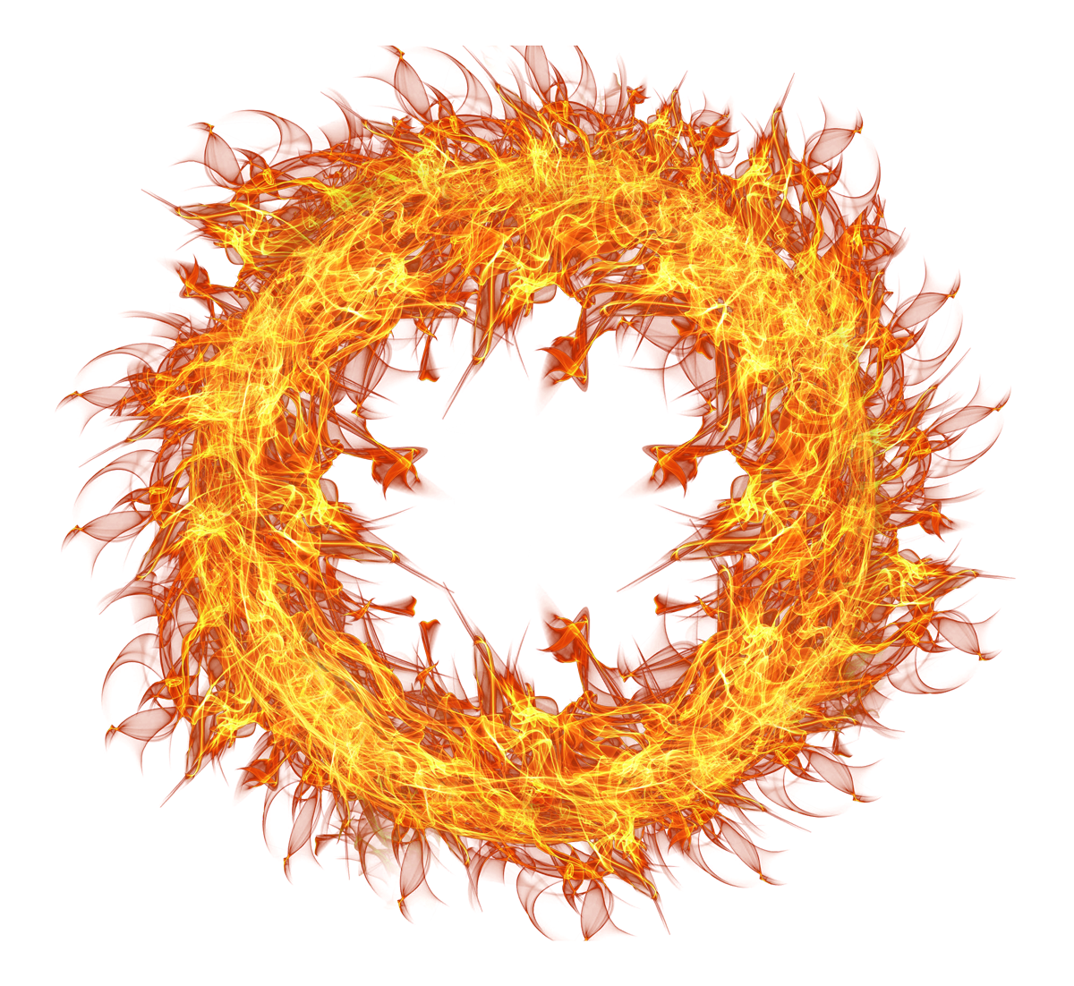 Fire ring png. Flame circle transparent image