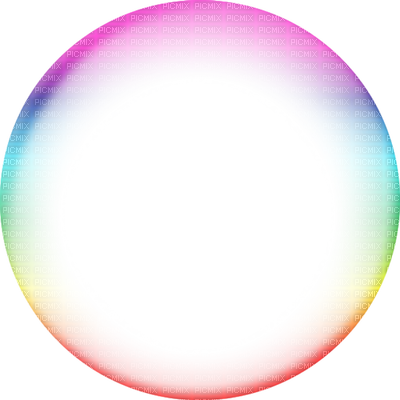 Circle transparent png. Frame colorful picmix