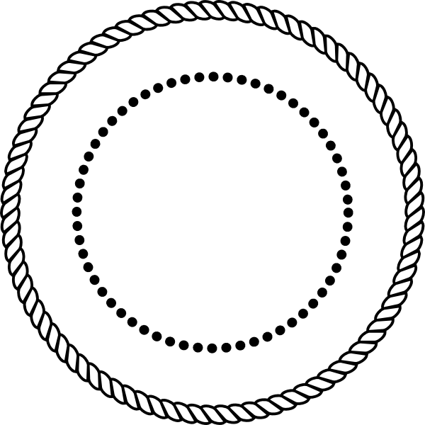 Circle vector png. Rope clipart