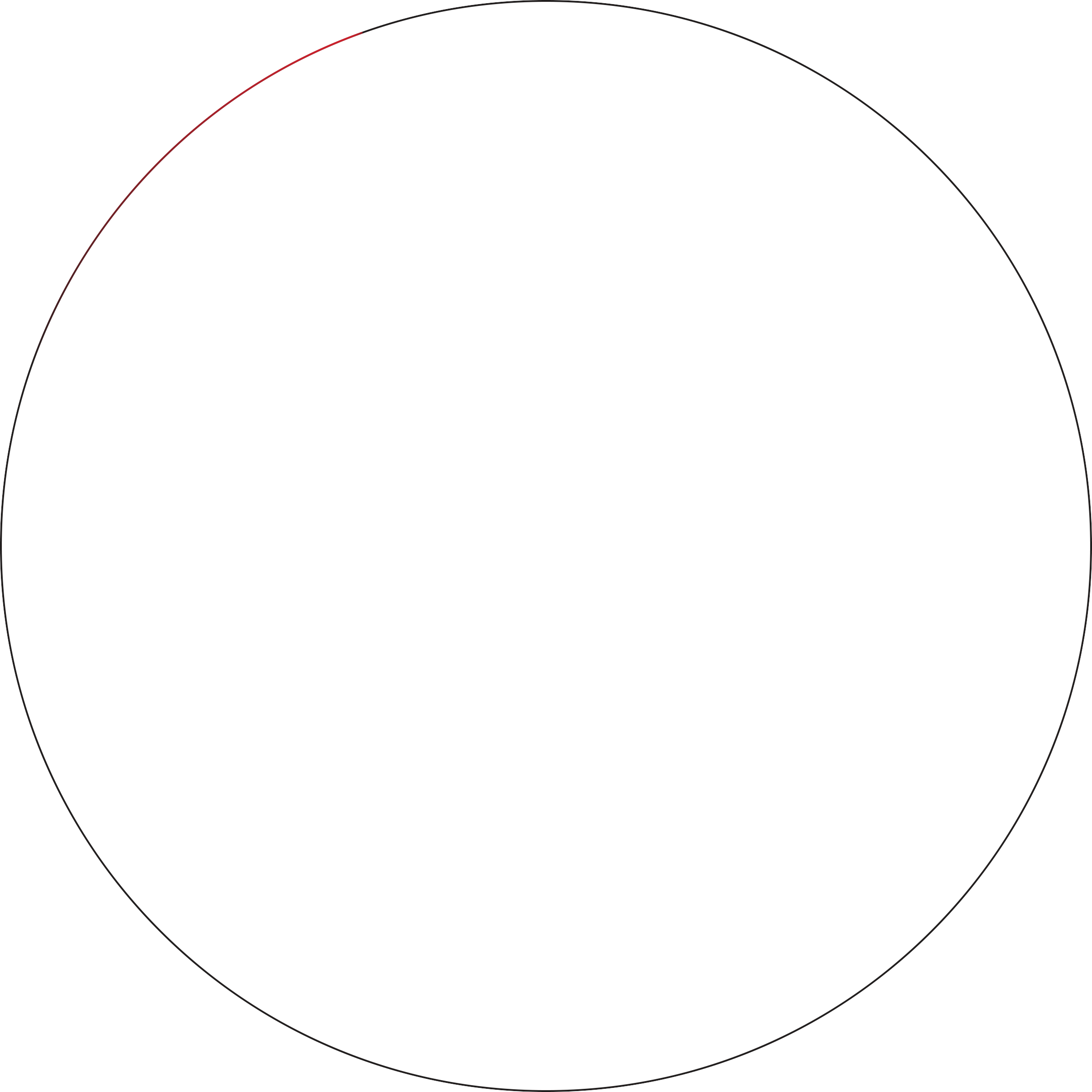 The transparent circle. Rocket lab space is