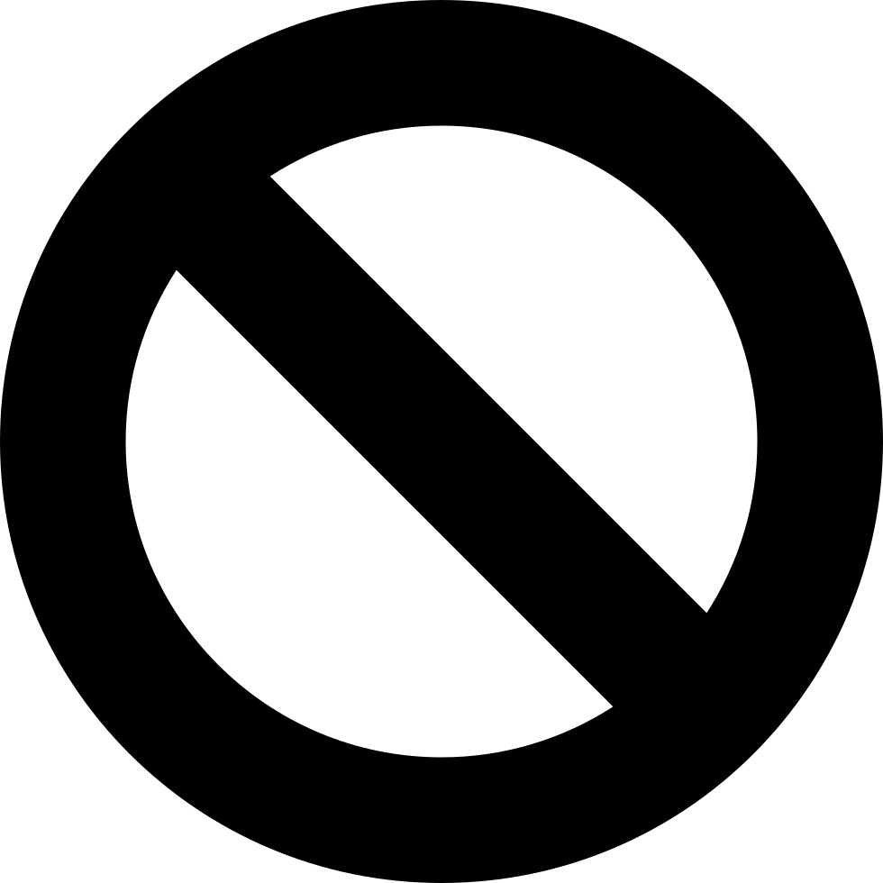 Circle with slash png. Prohibition symbol of a