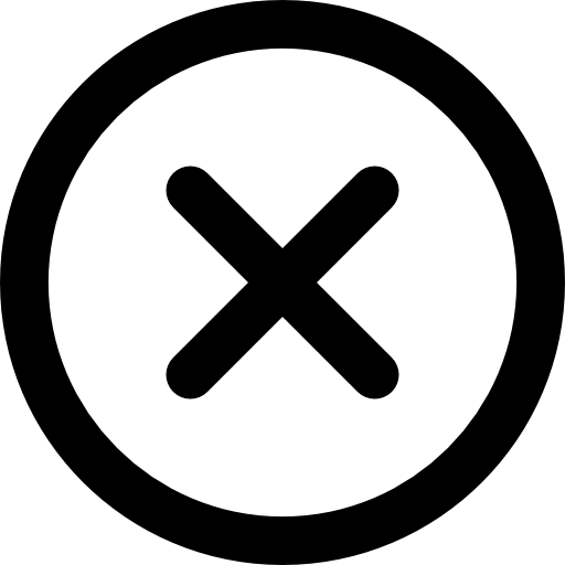 Circle with x png. Letter icon page svg