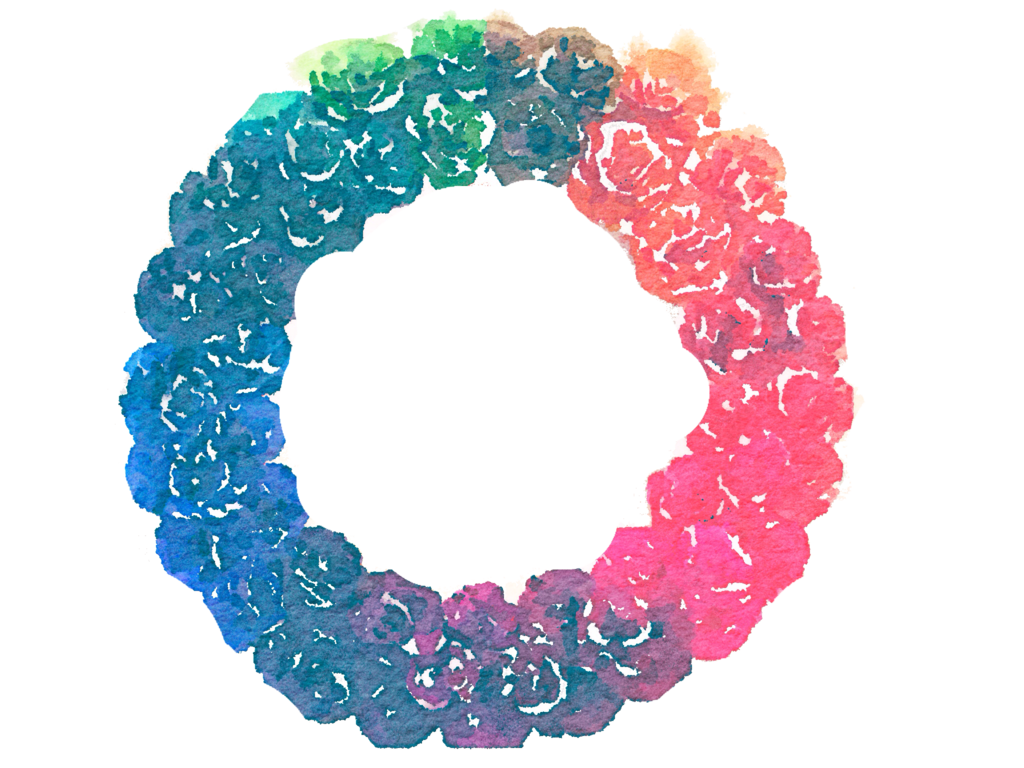 Free watercolor png. Rainbow wreath by anjelakbm