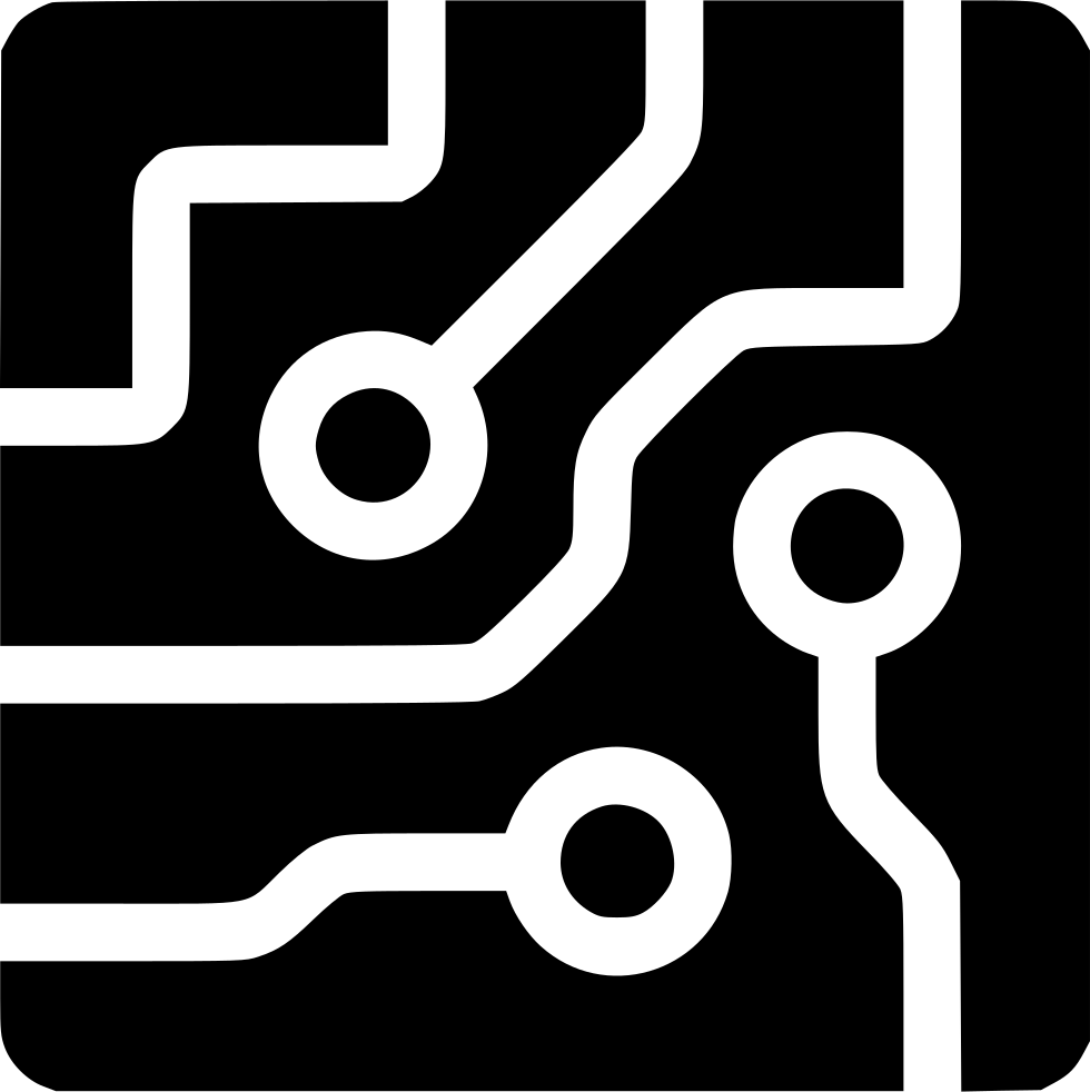 Circuit board black png