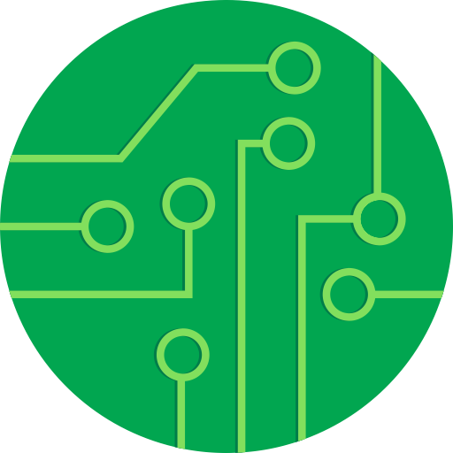 Circuit board icon png. Rounded free of round