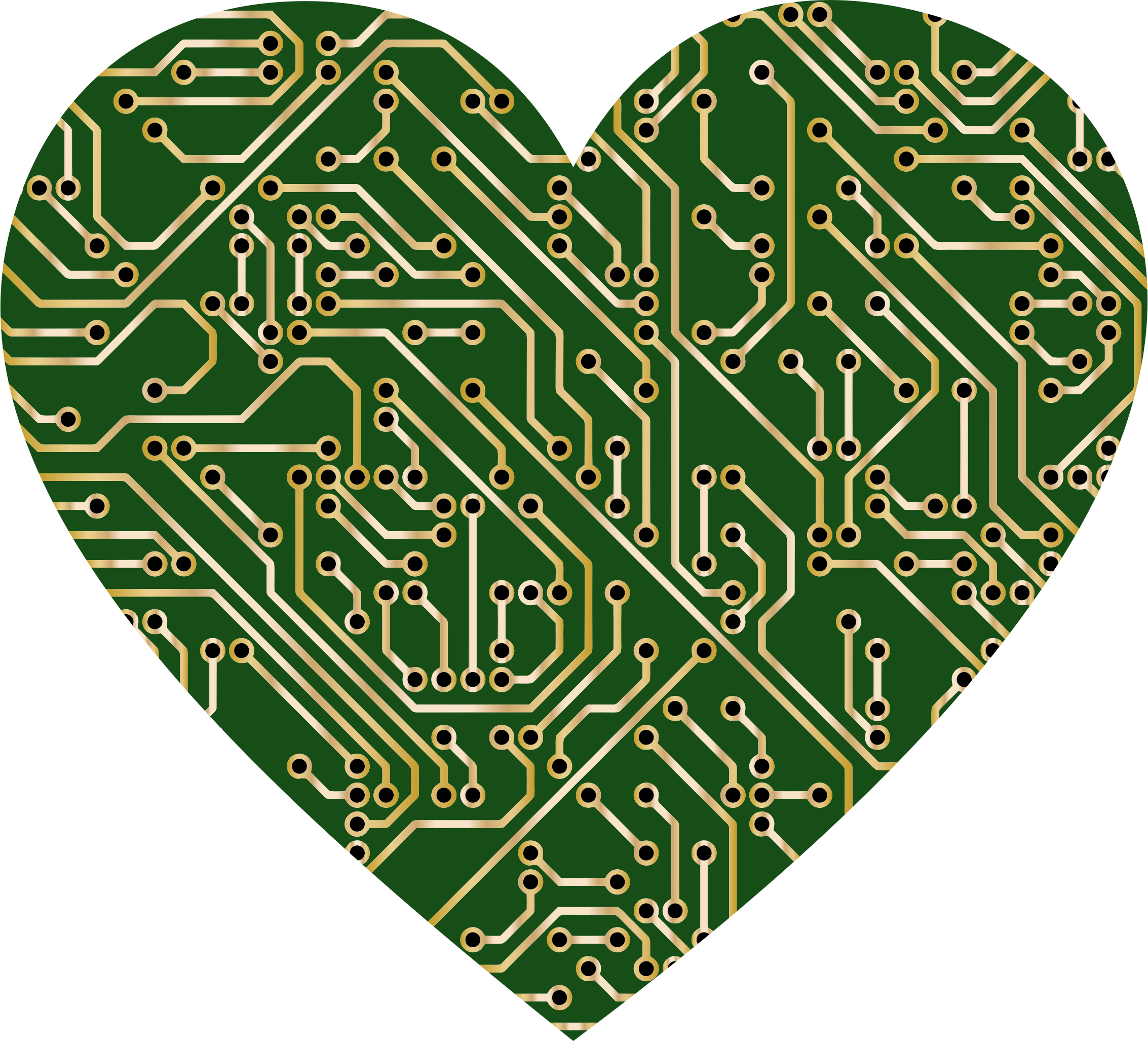 Circuit board .png. Printed heart icons png