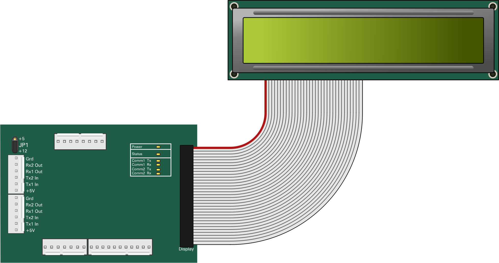 Circuit board png transparent. Lcd display with icons