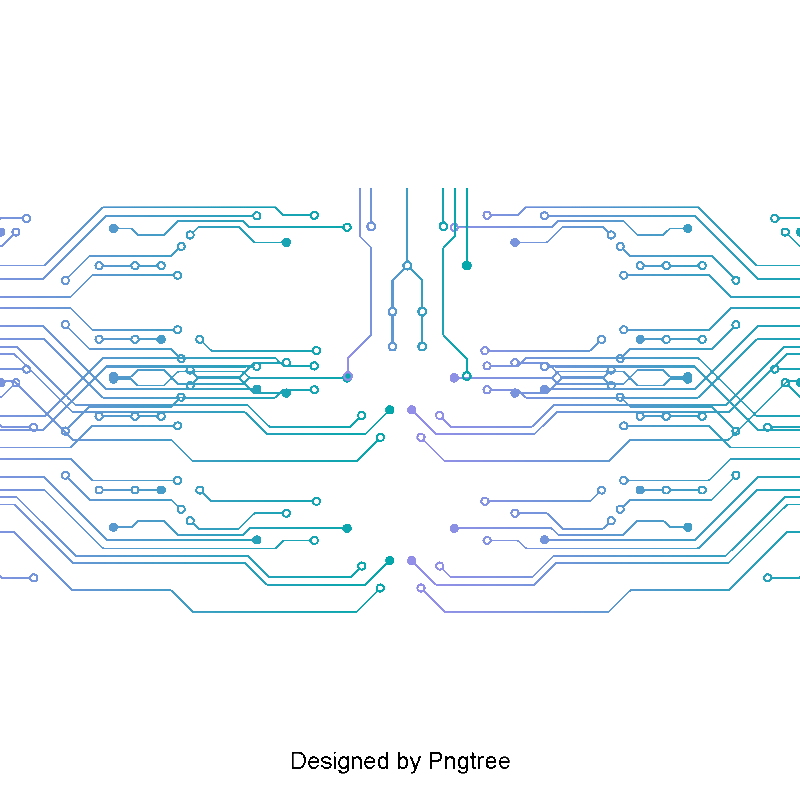 Circuit board vector png abstract. Electronic pattern design and