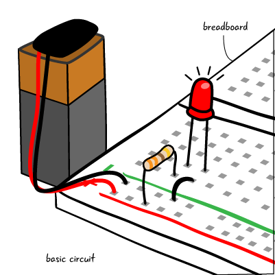 Circuit cartoon png. Chapter using a breadboard