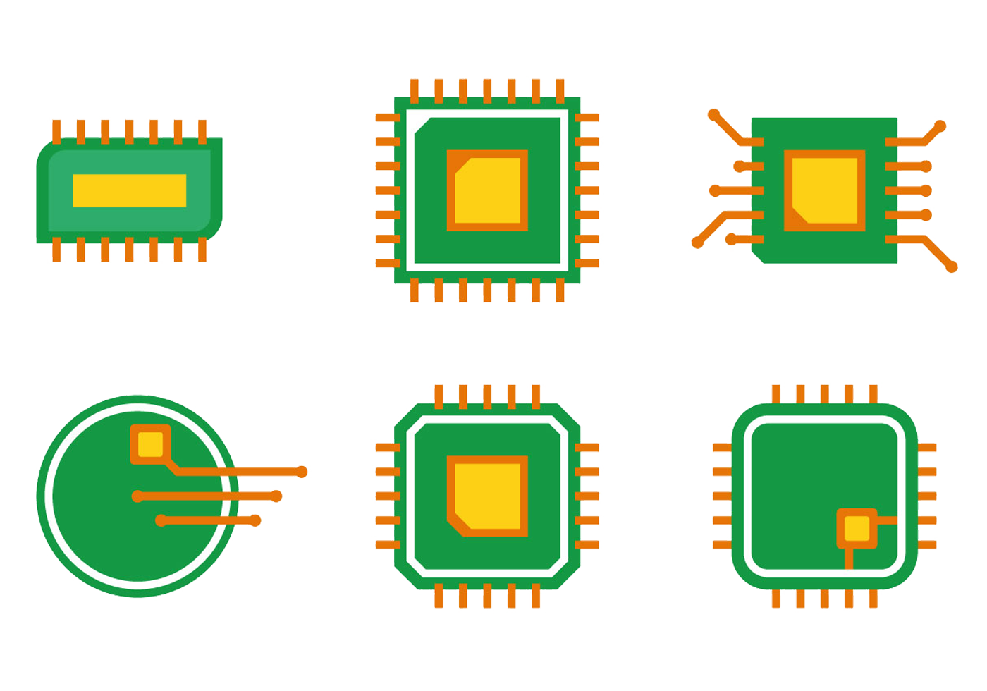 Circuit cartoon png. Integrated printed board icon
